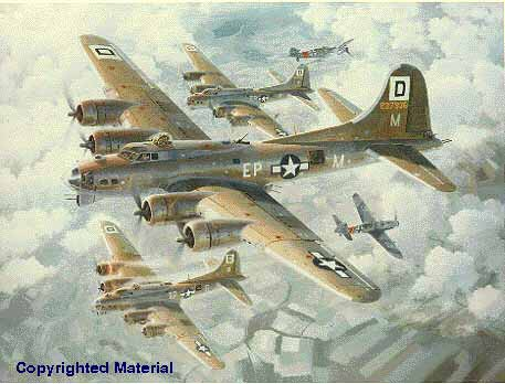 B-17s under attack